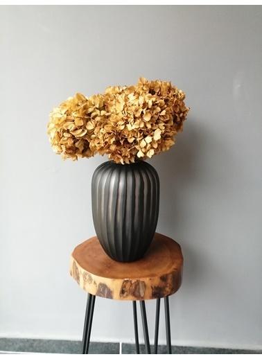 Kuru Çiçek Deposu Solmayan Gerçek Ortanca Buketi Koyu Sarı 4-5 Adet , Kuru Çiçek Sarı
